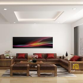 Sofa gỗ chữ U T158