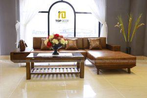 Sofa gỗ T142 ,4