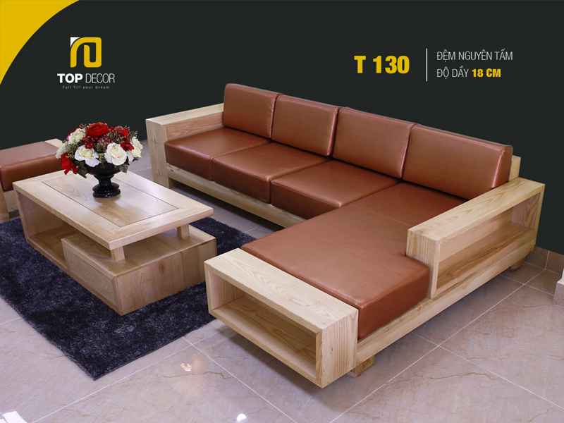 Sofa gỗ hiện đại T130 ,4