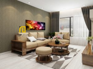 Sofa gỗ góc đệm T166 ,1