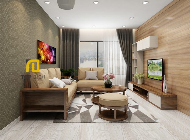 Sofa gỗ góc đệm T166 ,2